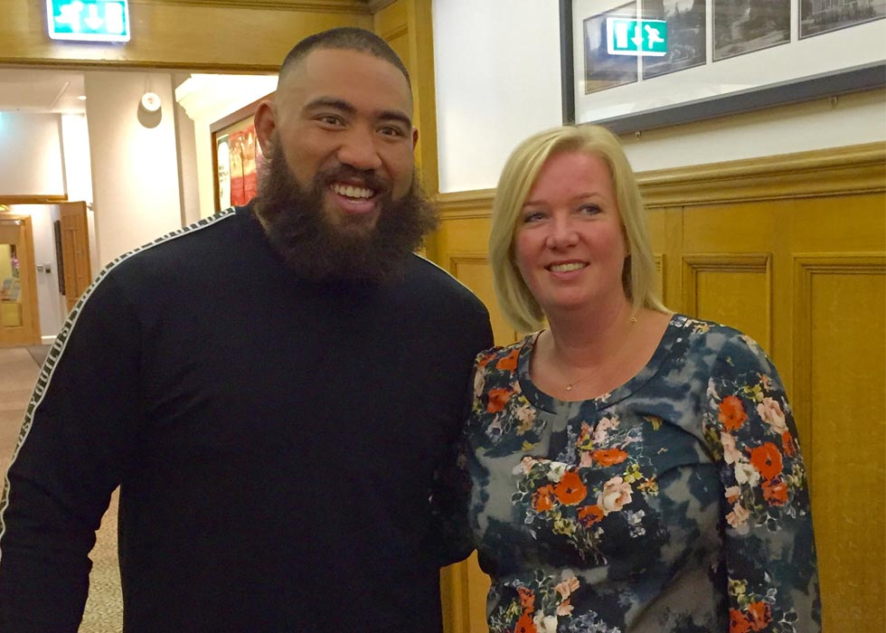 CC Clients meet the 'All Blacks NZ Rugby Squad'.