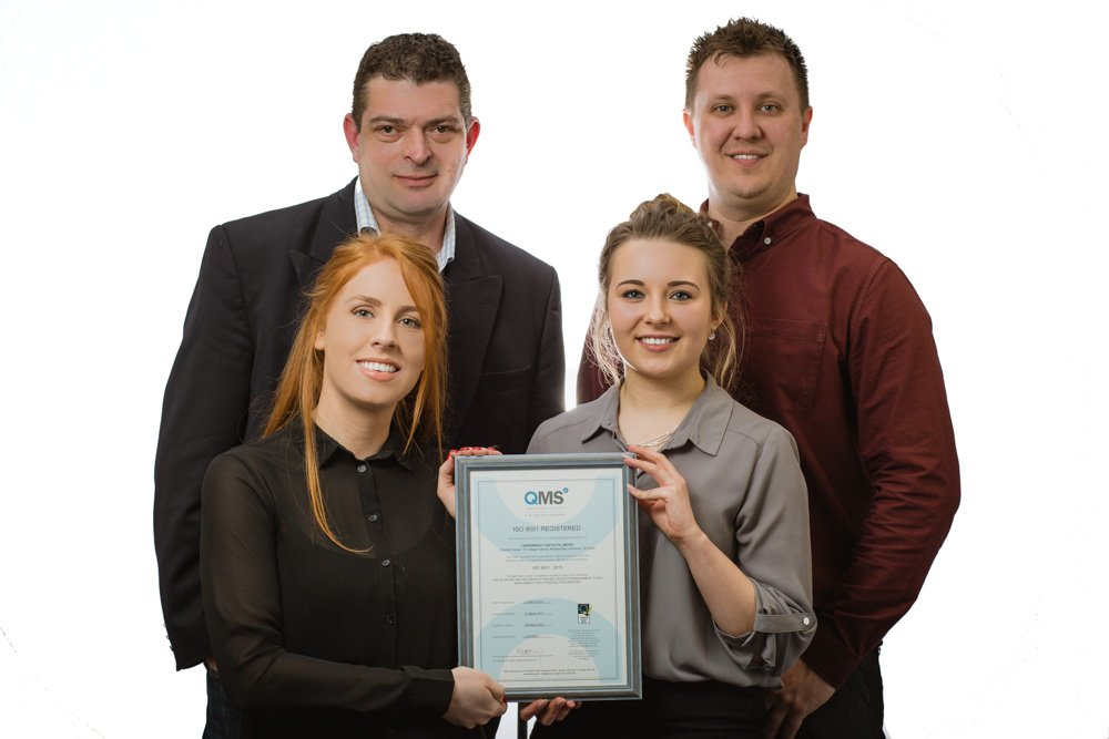 Conference Contacts celebrate ISO 9001 Certification